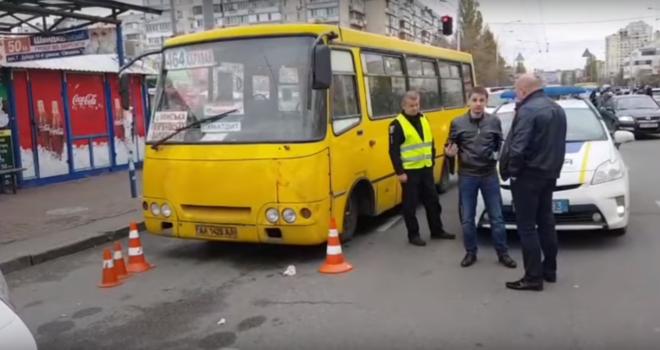ВКиеве арестован шофёр , сбивший людей наостановке