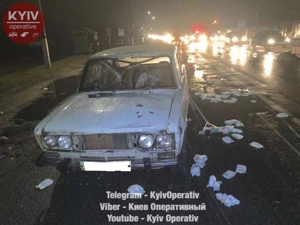 Под Киевом неизвестный навысокой скорости сбил 3 пешеходов и исчез