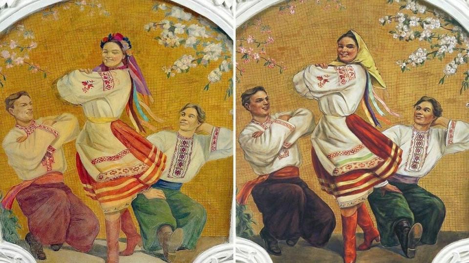 Метро столицы объяснило перемены вофреске сукраинской девушкой на«Киевской»