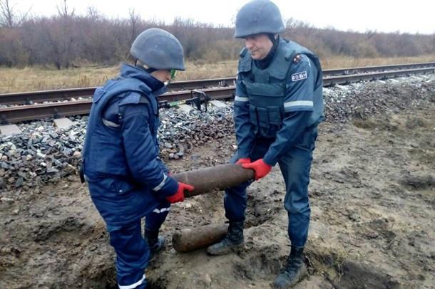 НаОдесчине около железной дороги обнаружили артиллерийские снаряды