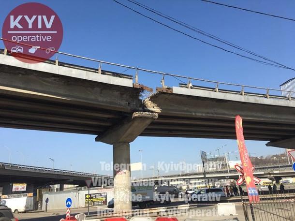 ВКГГА опровергли обвал путепровода наВыдубичах— Мост неустал