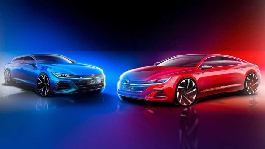 Игра в интригу продолжается: Volkswagen засветил обновленный Arteon в тизере, видео