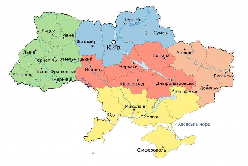 Новая карта нотариальных округов Украины: список новых округов